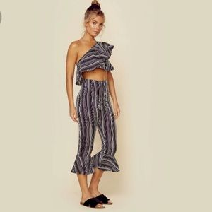 25001934c763e For Love And Lemons Pants - NWOT For Love and Lemons Striped Crop Top Pant  Set